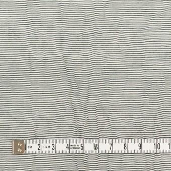 コットン&ナイロン×ボーダー(チャコール)×ボイルワッシャー_全2色 サムネイル4