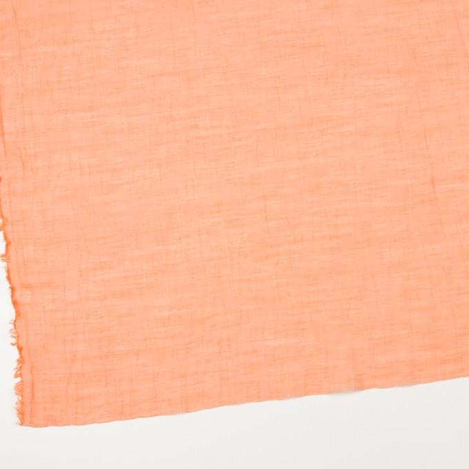 コットン&シルク混×チェック(オレンジ)×オーガンジー・ワッシャー_全2色 イメージ2