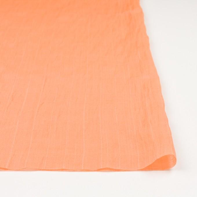 コットン&シルク混×チェック(オレンジ)×オーガンジー・ワッシャー_全2色 イメージ3