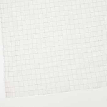 コットン&シルク混×チェック(オフホワイト&ブラック)×オーガンジー・ワッシャー_全4色 サムネイル2