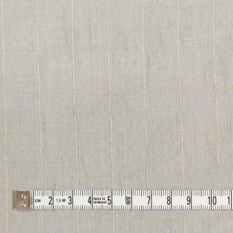 コットン&シルク混×チェック(シルバーグレー&クリームイエロー)×オーガンジー・ワッシャー_全4色 サムネイル4