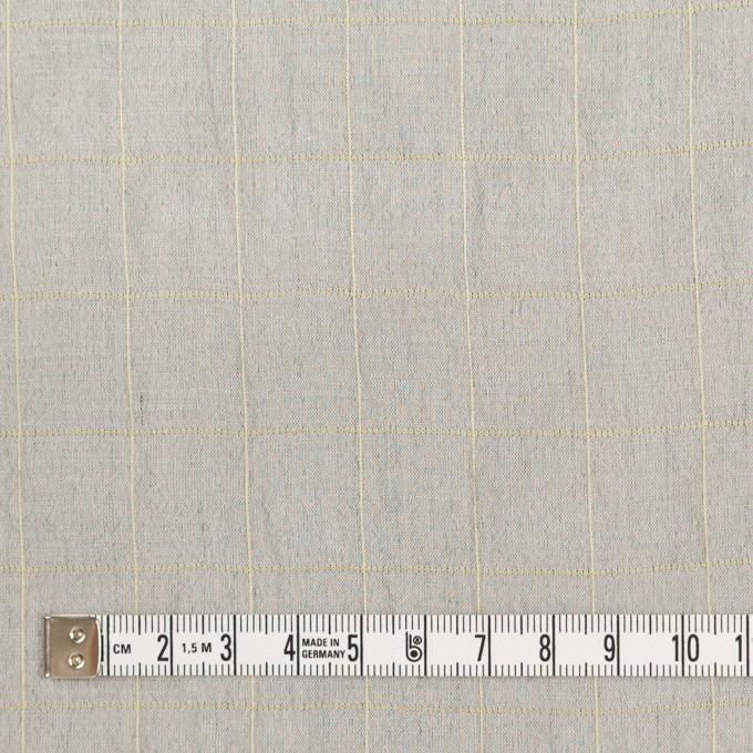 コットン&シルク混×チェック(シルバーグレー&クリームイエロー)×オーガンジー・ワッシャー_全4色 イメージ4