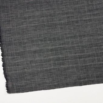 コットン&シルク混×チェック(ブラック&ホワイト)×オーガンジー・ワッシャー_全4色 サムネイル2