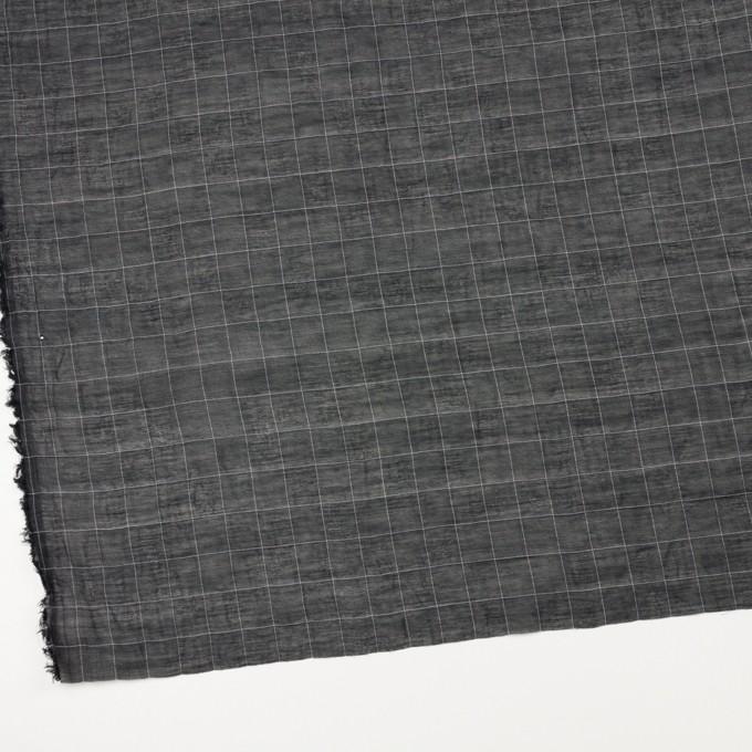 コットン&シルク混×チェック(ブラック&ホワイト)×オーガンジー・ワッシャー_全4色 イメージ2