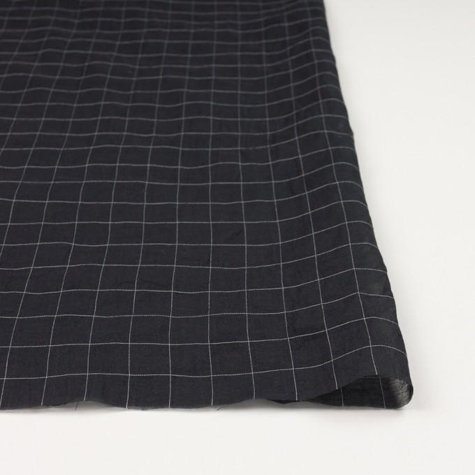 コットン&シルク混×チェック(ブラック&ホワイト)×オーガンジー・ワッシャー_全4色 イメージ3