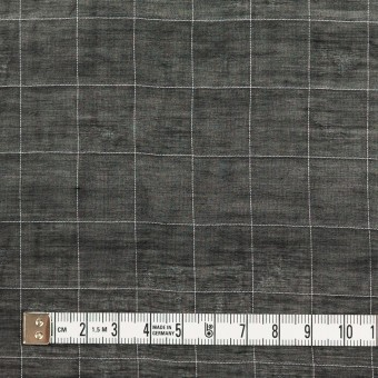コットン&シルク混×チェック(ブラック&ホワイト)×オーガンジー・ワッシャー_全4色 サムネイル4