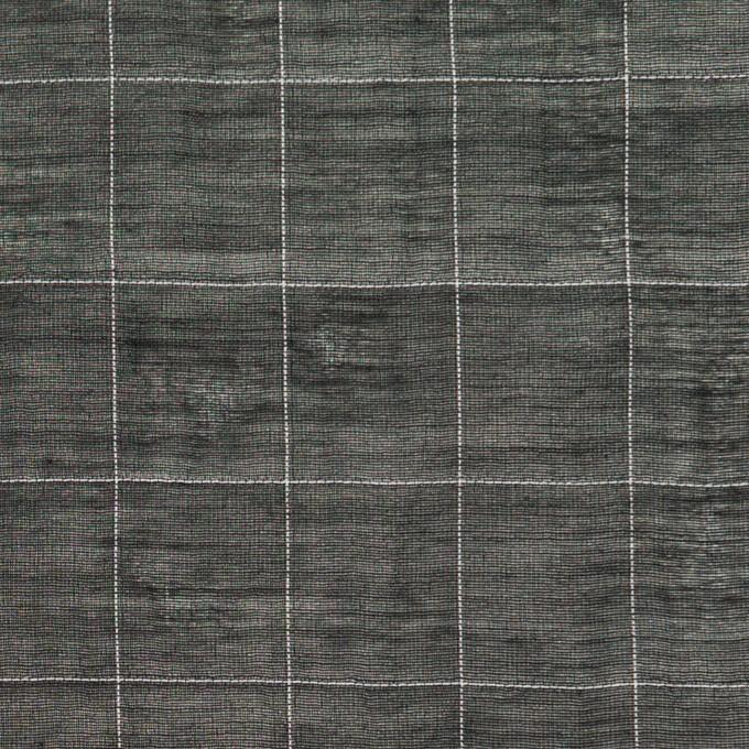 コットン&シルク混×チェック(ブラック&ホワイト)×オーガンジー・ワッシャー_全4色 イメージ1