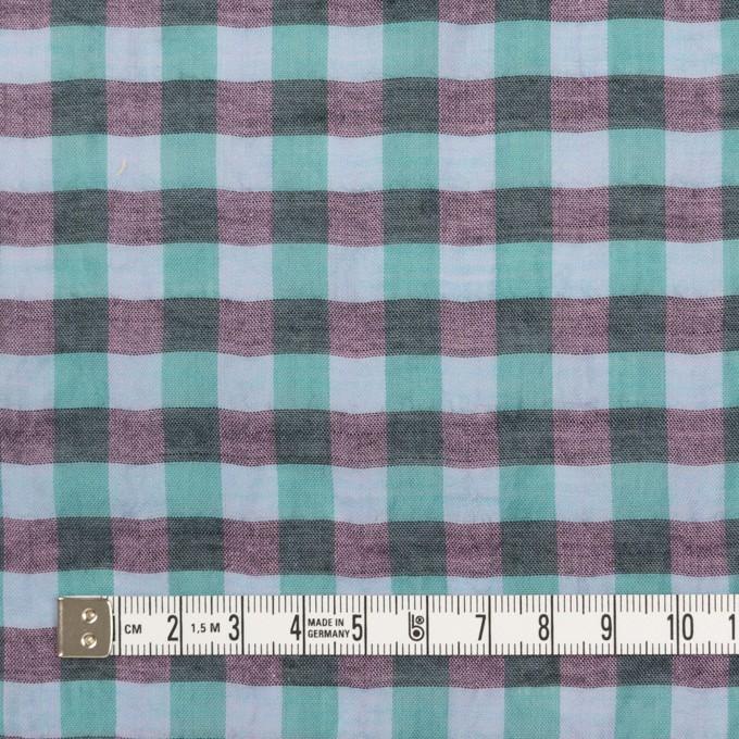コットン&ポリウレタン×チェック(ミント&チャコール)×ボイルシャーリング_全3色 イメージ4