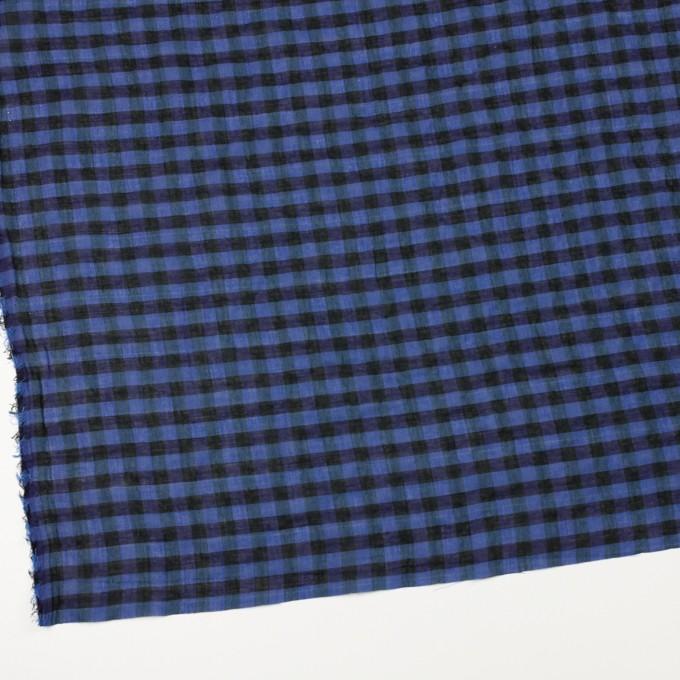 コットン&ポリウレタン×チェック(ブルー&ネイビー)×ボイルシャーリング_全3色 イメージ2