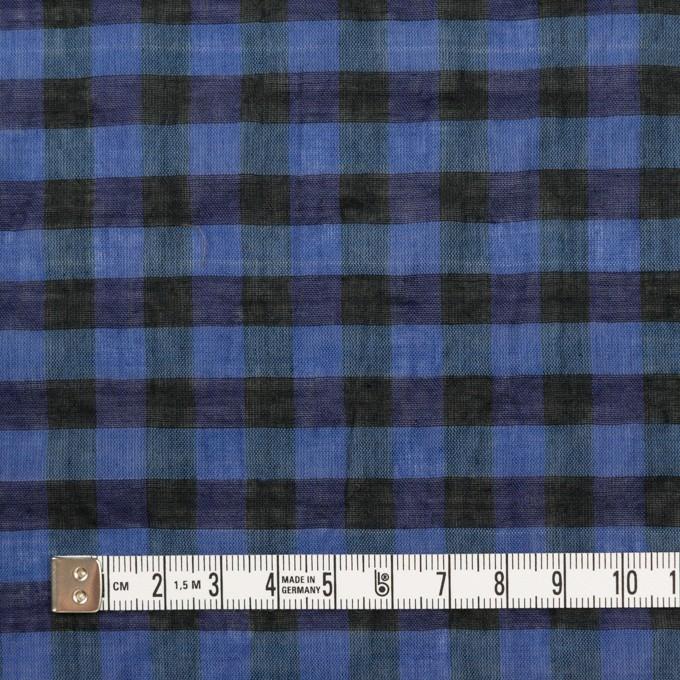 コットン&ポリウレタン×チェック(ブルー&ネイビー)×ボイルシャーリング_全3色 イメージ4