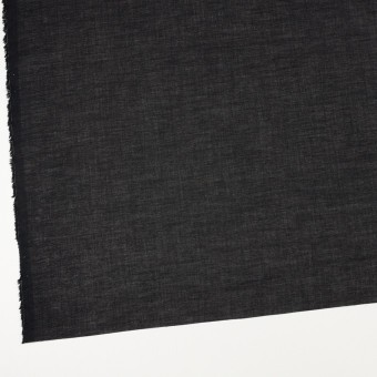 コットン&シルク×無地(ブラック)×ボイル_全2色 サムネイル2