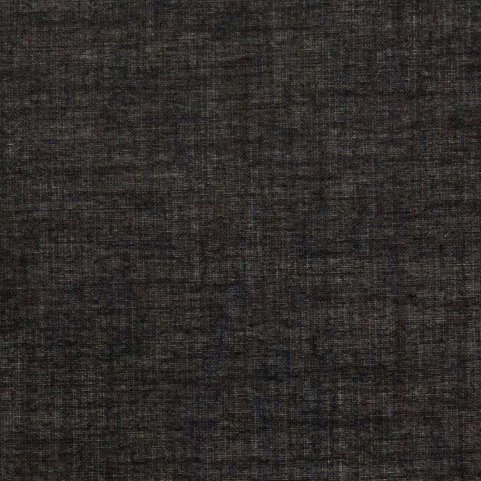 コットン&シルク×無地(ブラック)×ボイル_全2色 イメージ1