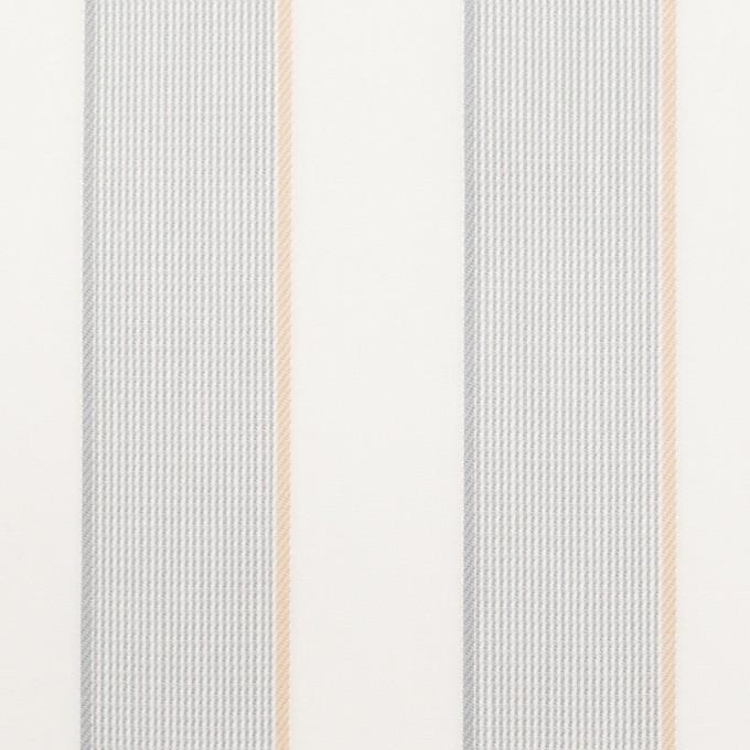 コットン×ストライプ(ライトグレー&ベージュ)×ブロードジャガード イメージ1