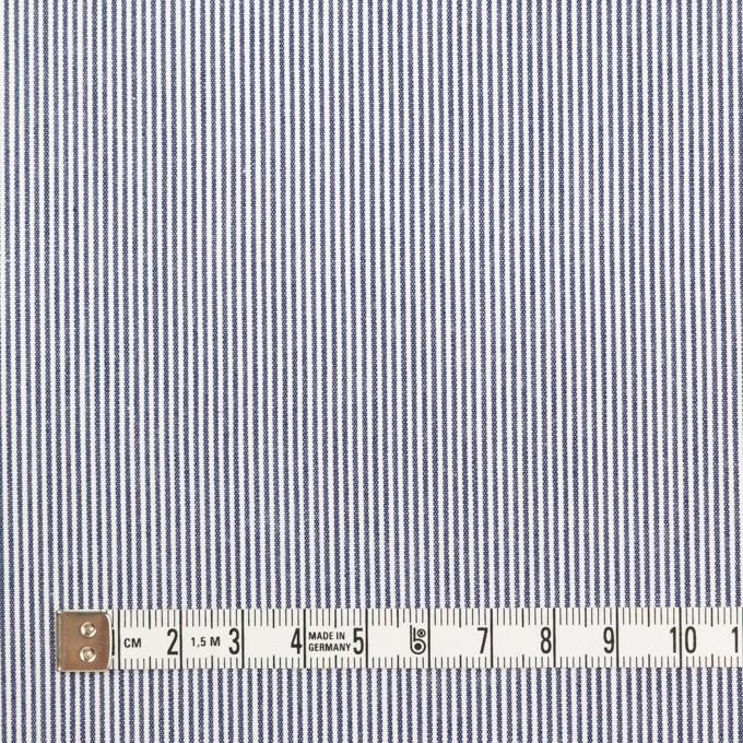 コットン×ストライプ(ネイビー)×コードレーン イメージ4