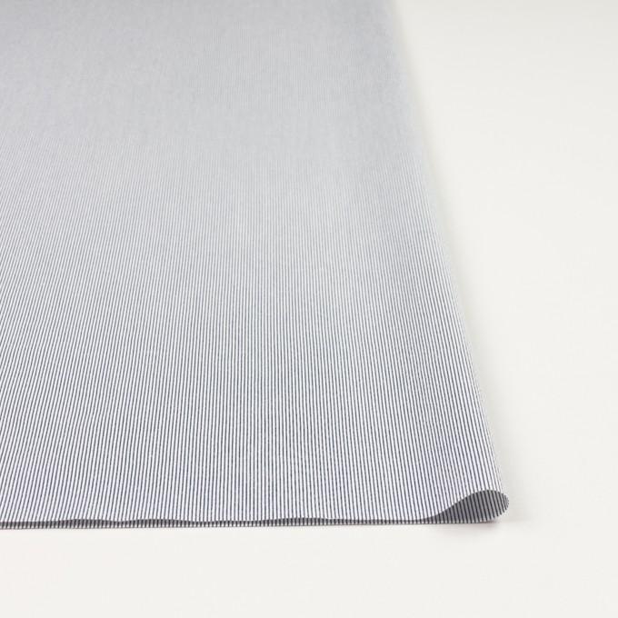 コットン&ポリエステル混×ストライプ(アッシュネイビー)×コードレーン・ストレッチ イメージ3