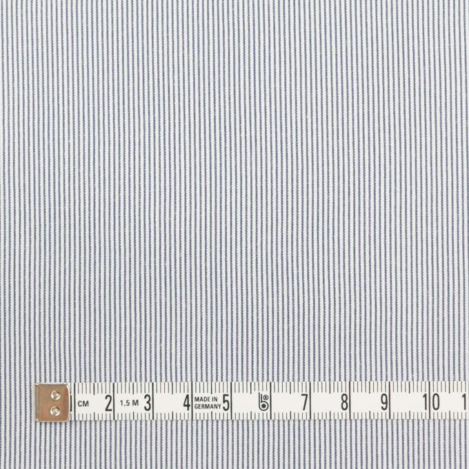 コットン&ポリエステル混×ストライプ(アッシュネイビー)×コードレーン・ストレッチ イメージ4
