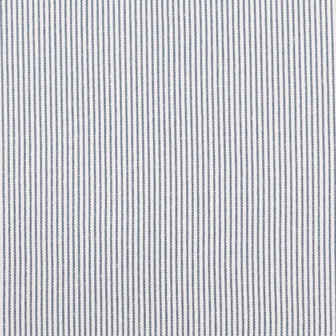 コットン&ポリエステル混×ストライプ(アッシュネイビー)×コードレーン・ストレッチ イメージ1