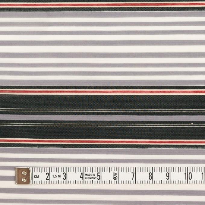 コットン&ナイロン×ボーダー(グレープグレー&チャコール)×ポプリン イメージ4