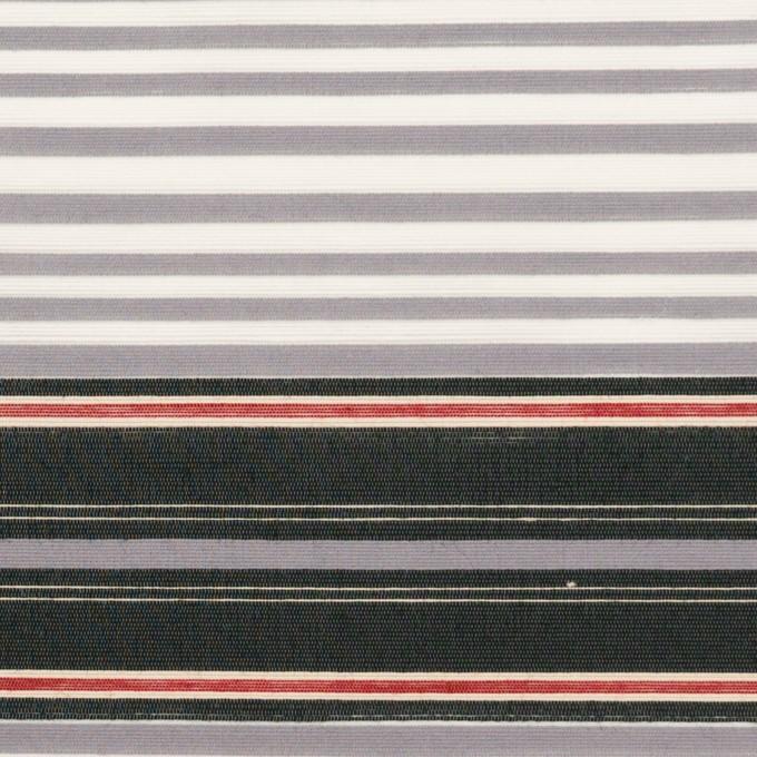 コットン&ナイロン×ボーダー(グレープグレー&チャコール)×ポプリン イメージ1
