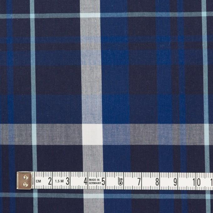 コットン&レーヨン×チェック(マリンブルー&ネイビー)×ブロード イメージ4