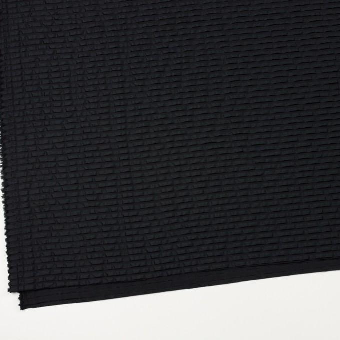 ナイロン&シルク×ボーダー(ブラック)×ピンタックタフタ_全2色 イメージ2