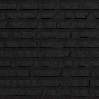 ナイロン&シルク×ボーダー(ブラック)×ピンタックタフタ_全2色 サムネイル1