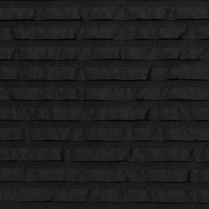 ナイロン&シルク×ボーダー(ブラック)×ピンタックタフタ_全2色 イメージ1