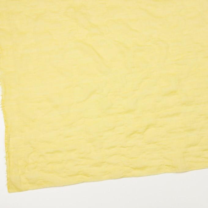 コットン&ポリウレタン×無地(レモンイエロー)×シャンブレー・シャーリング イメージ2