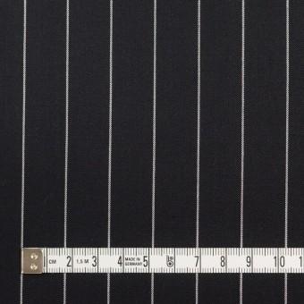 コットン&ポリウレタン×ストライプ(ブラック)×サージストレッチ サムネイル4