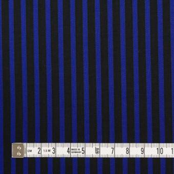 コットン×ストライプ(マリンブルー&ブラック)×ブロードジャガード サムネイル4