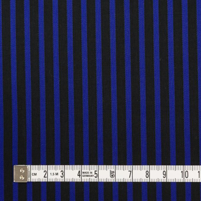 コットン×ストライプ(マリンブルー&ブラック)×ブロードジャガード イメージ4