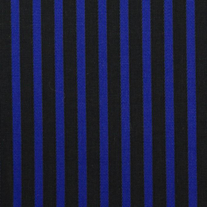コットン×ストライプ(マリンブルー&ブラック)×ブロードジャガード イメージ1