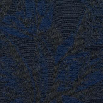 コットン×ボタニカル(ネイビー&ダークネイビー)×ジャガード