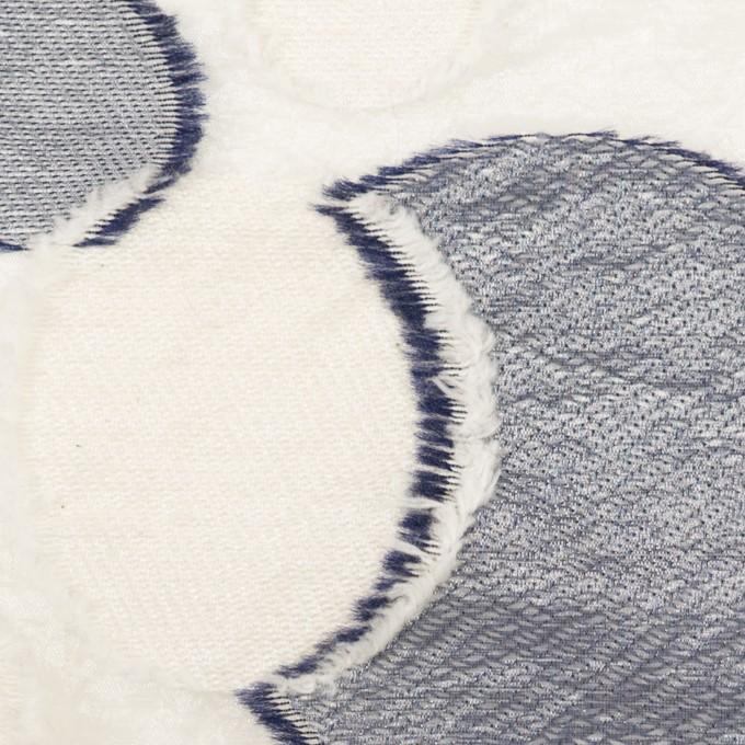 ナイロン&レーヨン混×サークル(ミルキーホワイト&ネイビー)×オーガンジー・カットジャガード イメージ1