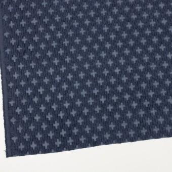 コットン&ナイロン×幾何学模様(アッシュネイビー)×オーガンジー・カットジャガード サムネイル2