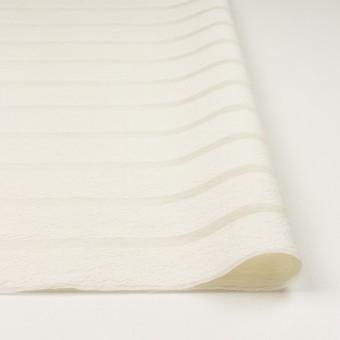 コットン&ナイロン×ボーダー(ミルキーホワイト)×オーガンジー・ジャガード_全2色 サムネイル3