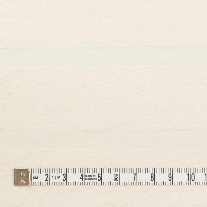コットン&ナイロン×ボーダー(ミルキーホワイト)×オーガンジー・ジャガード_全2色 イメージ4