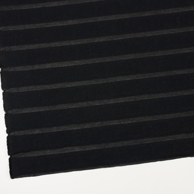 コットン&ナイロン×ボーダー(ブラック)×オーガンジー・ジャガード_全2色 イメージ2