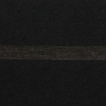 コットン&ナイロン×ボーダー(ブラック)×オーガンジー・ジャガード_全2色
