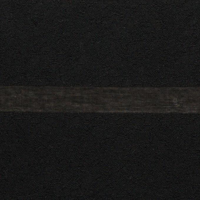 コットン&ナイロン×ボーダー(ブラック)×オーガンジー・ジャガード_全2色 イメージ1