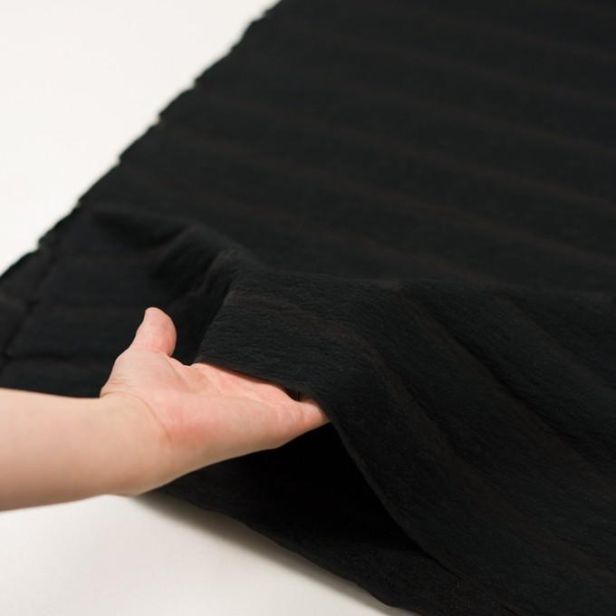 コットン&ナイロン×ボーダー(ブラック)×オーガンジー・ジャガード_全2色 イメージ5