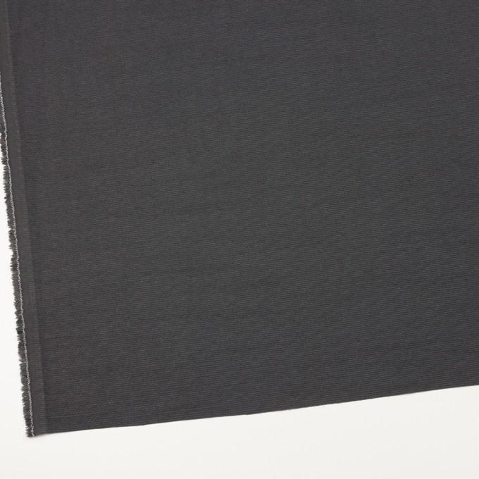 シルク&レーヨン混×無地(チャコール)×オーガンジー・ジャガード イメージ2