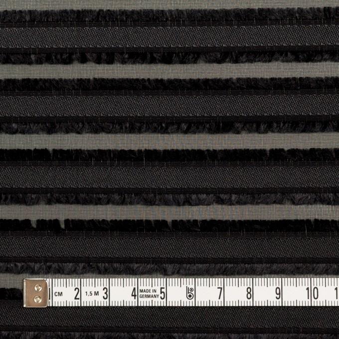 ポリエステル×ボーダー(ブラック)×ジョーゼット・カットジャガード イメージ4