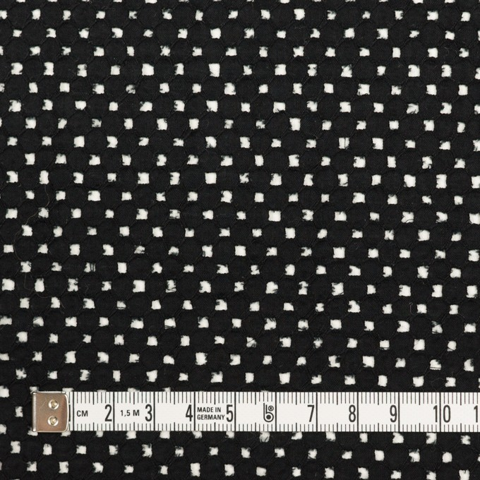 コットン×サークル(ブラック)×ローン刺繍 イメージ4