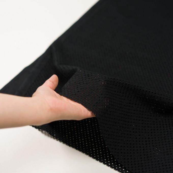 コットン×サークル(ブラック)×ローン刺繍 イメージ5