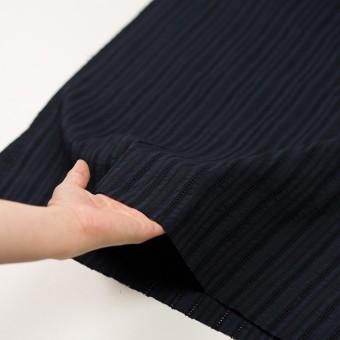 コットン×ストライプ(ダークネイビー)×ローン刺繍 サムネイル5