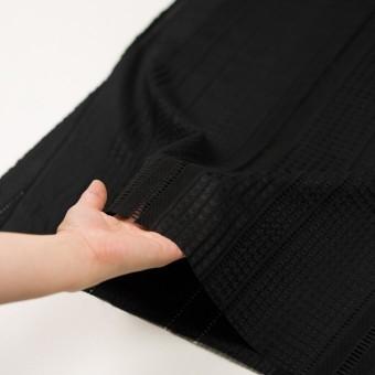 コットン×ストライプ(ブラック)×ローン刺繍 サムネイル5