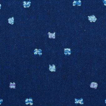 コットン×ドット(ネイビー)×シーチング・カットジャガード