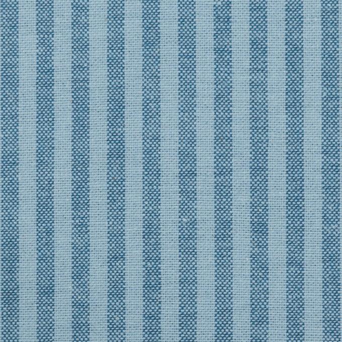 コットン×ストライプ(アッシュブルー)×シーチング イメージ1