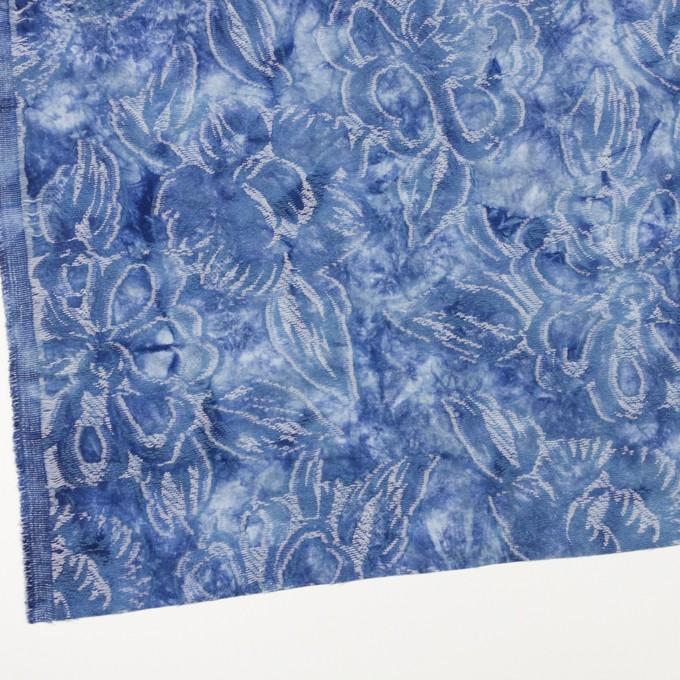 コットン&レーヨン混×フラワー(アッシュブルー)×ガーゼ・カットジャガード イメージ2